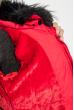Куртка женская «Трансформер» с контрастным мехом 315V001-1 красный