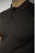 Поло с геометрическим принтом 624F005 темно-серый
