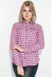 Рубашка женская, мелкая  клетка 276V001-2 розово-синий