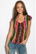 Блуза женская 118P027 розово-зеленый