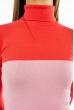Гольф трехцветный 618F076 кораллово-розовый