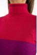 Гольф трехцветный 618F076 малиново-фиолетовый