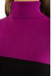 Гольф трехцветный 618F076 фиолетово-черный