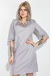 Платье женское, в мелкий горох, рукав три четверти 72PD75 серый