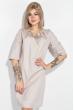 Платье женское, в мелкий горох, рукав три четверти 72PD75 бежевый