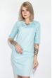 Платье женское, в мелкий горох, рукав три четверти 72PD75 голубой