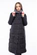 Пальто женское двустороннее 110P042-1 серо-черный