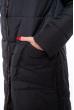 Пальто женское двустороннее 110P042-1 черно-серый