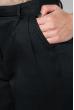 Брюки женские на поясе, укороченные 64PD342 черный