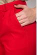 Брюки женские на поясе, укороченные 64PD342 красный