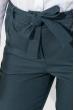 Брюки женские на поясе, укороченные 64PD342 сине-серый