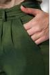 Брюки женские на поясе, укороченные 64PD342 зеленый