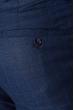 Брюки мужские стильная клетка 497F001-2 синий