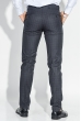 Брюки мужские стильная клетка 497F001-2 серый