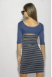 Платье в полоску 120PZEL9917 индиго-серый