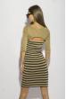 Платье в полоску 120PZEL9917 золотой / черный