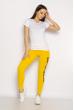 Лосины спортивные женские с надписью 636F002 желтый