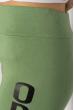 Лосины спортивные женские с надписью 636F002 оливковый