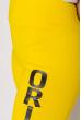 Лосины спортивные женские с надписью 636F002 ярко-желтый