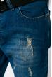 Джинсы мужские с царапками 104P033 синий