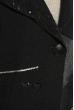 Кофта с манжетами 120PO013 черно-серый