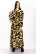 Платье милитари с поясом 628F005 милитари