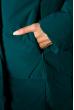 Женский спортивный пуховик 120P520 темно-бирюзовый / бежевый