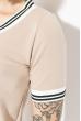 Костюм женский (футболка, юбка) 74P104 бежевый