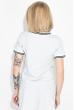 Костюм женский (футболка, юбка) 74P104 серый меланж