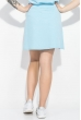 Костюм женский (футболка, юбка) 74P104 голубой