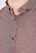 Рубашка мужская, однотонная 511F011-1 каштановый