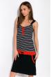 Ночная рубашка женская 107P2720 темно-синий / красный