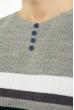 Джемпер декорированный пуговицами 619F1870 стальной