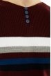 Джемпер декорированный пуговицами 619F1870 бордовый