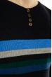 Джемпер декорированный пуговицами 619F1870 чернильный