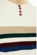 Джемпер декорированный пуговицами 619F1870 молочный