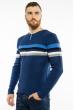 Джемпер декорированный пуговицами 619F1870 изумрудно-синий