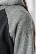 Худи женское рукав реглан 317F008 грифельно-серый