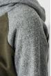 Худи женское рукав реглан 317F008 оливково-серый
