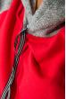 Худи женское рукав реглан 317F008 красно-серый