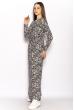 Макси платье с модным принтом 628F003 синий