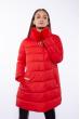 Куртка женская с меховым воротником 120PSKL1686 красный