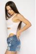 Боди женское с прозрачными вставками 629F1217 белый