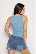 Боди женское с прозрачными вставками 629F1217 голубой