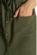 Платье-рубашка на завязках 633F001 оливковый
