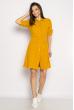 Платье-рубашка на завязках 633F001 горчичный