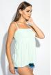 Блуза женская штапель на широкой резинке на груди 266F011-6 мятный