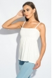 Блуза женская штапель на широкой резинке на груди 266F011-6 молочный