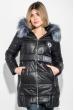Куртка женская с элементами декора на поясе и груди 69PD893 черный