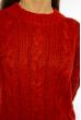 Свитер женский крупной вязки 616F5158 красный